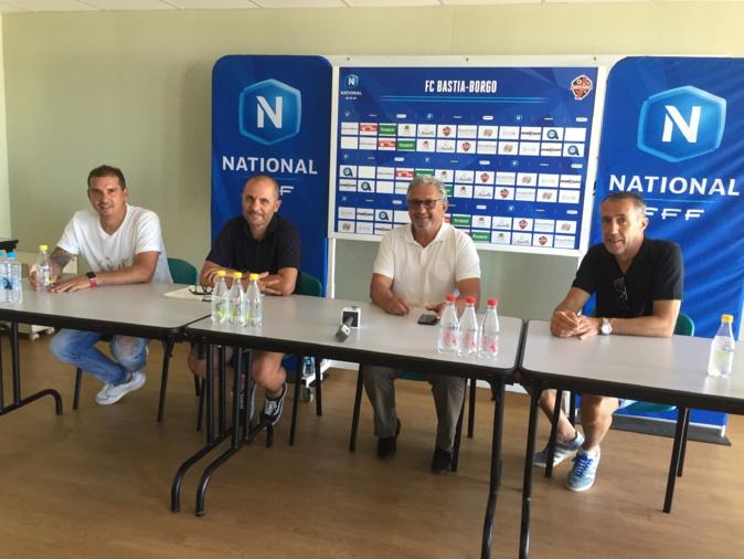 Les dirigeants et l'entraineur du FC Bastia-Borgo ont présenté la saison 2020/2021