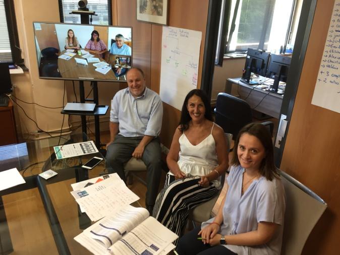 Dominique Marinetti, directeur des CAF de Haute-Corse et de Corse du Sud, et ses cadres de Bastia et d'Ajaccio (en visio conférence) ont expliqué comment ils ont pu assurer la continuité des aides malgré la crise sanitaire.