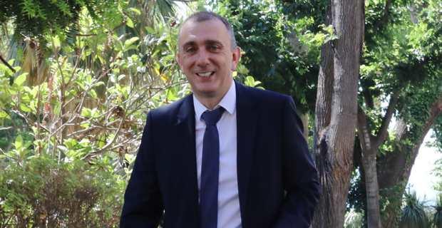 Jean-Christophe Angelini, leader du PNC, conseiller exécutif et président de l'ADEC, candidat à l'élection municipale de Portivechju, chef de file de la liste Pà Portivechju.
