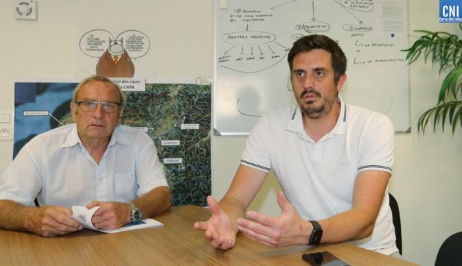 Adrien Castanier, responsable des transports de la CAPA et Jean-Marie Pasqualaggi, Maire de Tavaco et Vice-Président de la CAPA