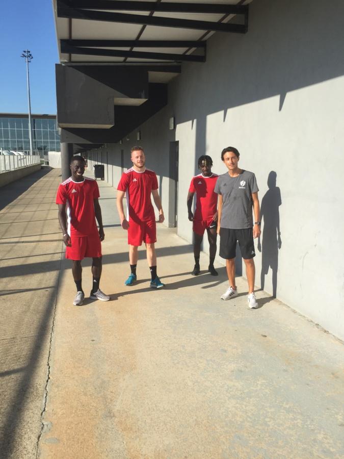 Reprise ce lundi pour Mamadou Magassouba  et Guillaume Buon, les deux  nouvelles recrues du FCBB (à gauche)