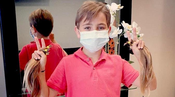 Borgo : Maxime (9 ans) fait don de ses cheveux pour les enfants malades