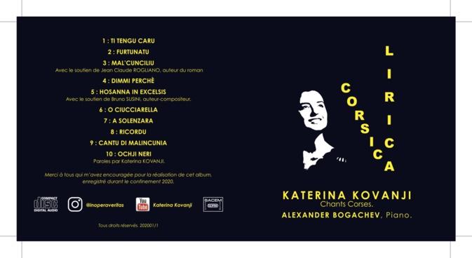 """La pochette de l'album """"Corsica Lirica""""."""