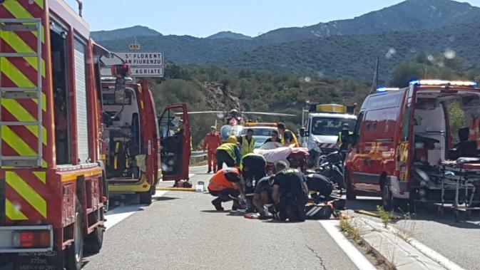 Grave accident de la route à Palasca : deux motards en état d'urgence absolue