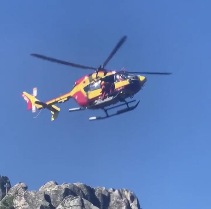 Albertacce : Un randonneur évacué par hélicoptère après une chute
