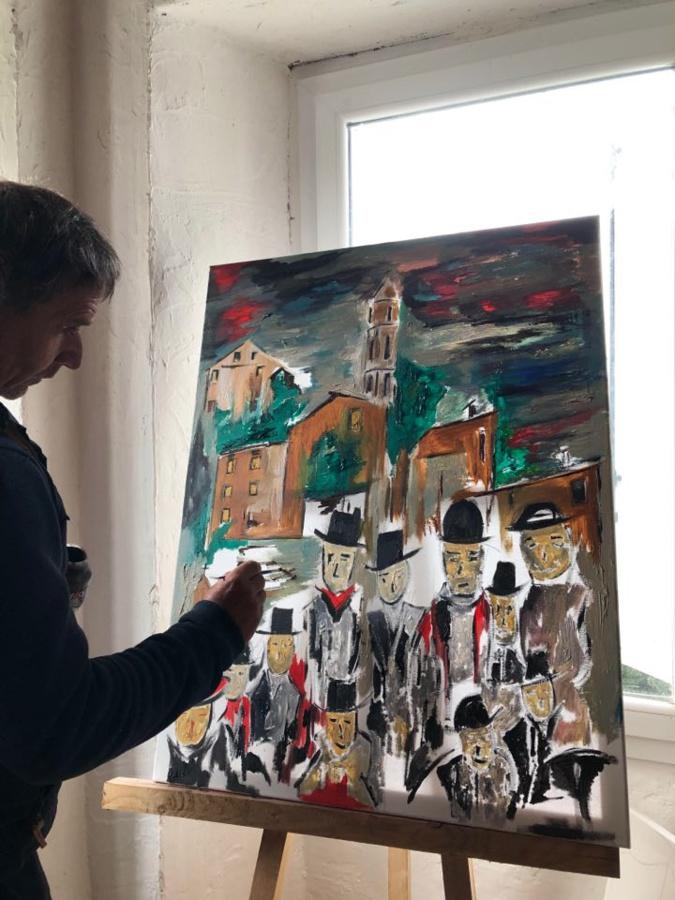 Joseph-Antoine Salviani dans son atelier