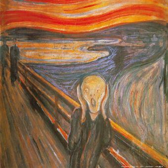 """""""Le Cri"""" de E.Munch qui a inspiré à JA Salviani l'idée d'une expo picturale"""
