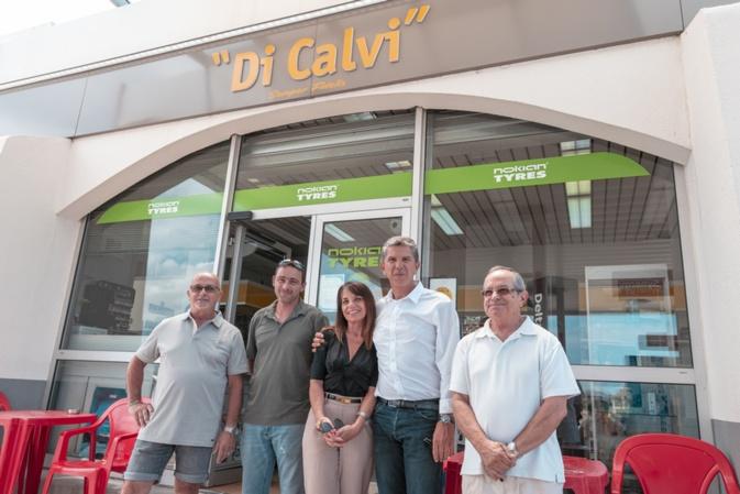 De gauche à droite: Alain Astolfi, Gilbert Chartier, Hélène Astolfi, Henri Ferrandi et Roger Astolfi (Photos Eyefinity Prod/ Kevin Guizol