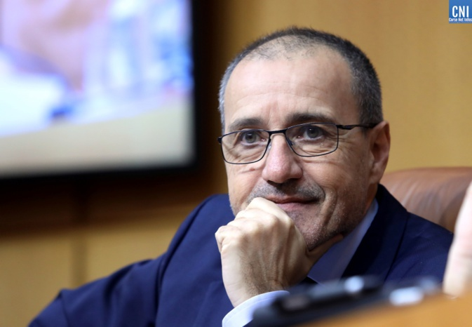 Jean-Guy Talamoni, Presidente di l' Assemblea di Corsica. Photo Michel Luccioni
