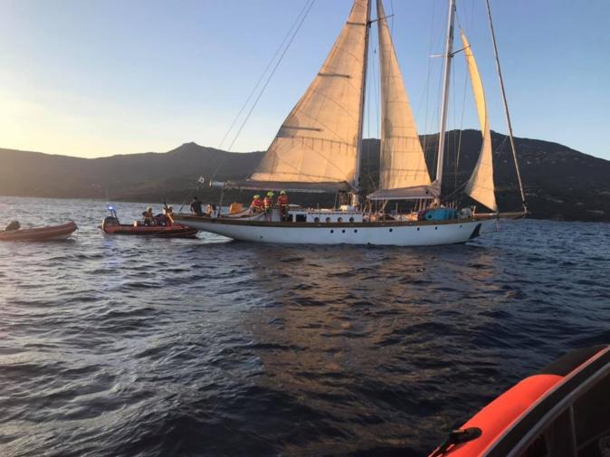 Début d'incendie sur un voilier de 23 mètres : la SNSM de Pruprià à la rescousse
