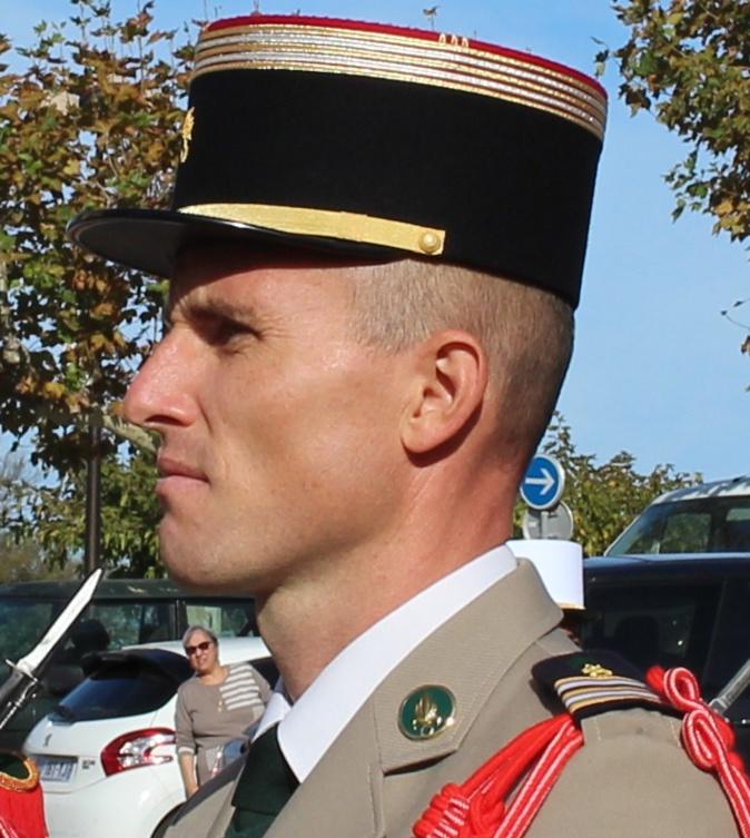 Le colonel Christophe Tritscher (Photos Gilbert Guizol)