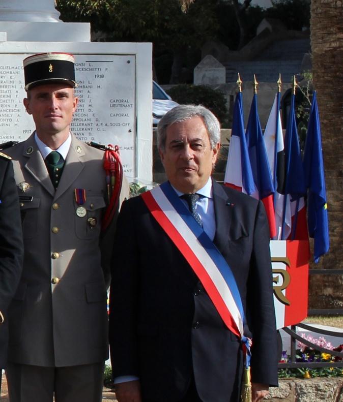 Le 11 novembre 2017 avec le maire de Calvi Ange Santini