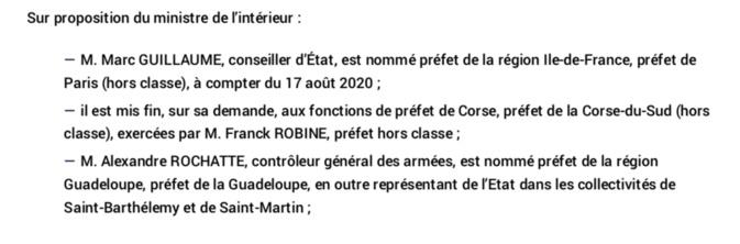 Le préfet Franck Robine quitte la Corse pour rejoindre Matignon