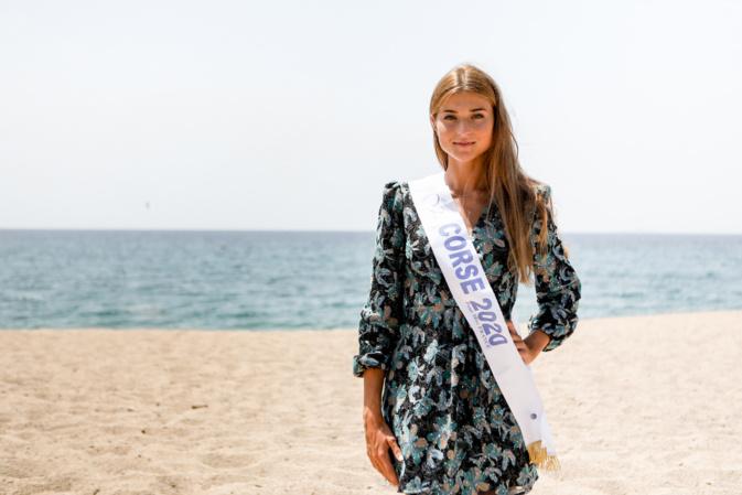 Noémie Leca, Miss Corse 2020. Crédit photo : Aurélien Baude pour Le Comité Miss Corse.