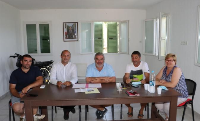 Membres du conseil municipal et de la Fondation patrimoine