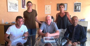 Le président Saveriu Lucciani entouré de Vincent Pianelli, Camille Ceccaldi, Maryline Casabianca et le directeur Ange De Cicco.