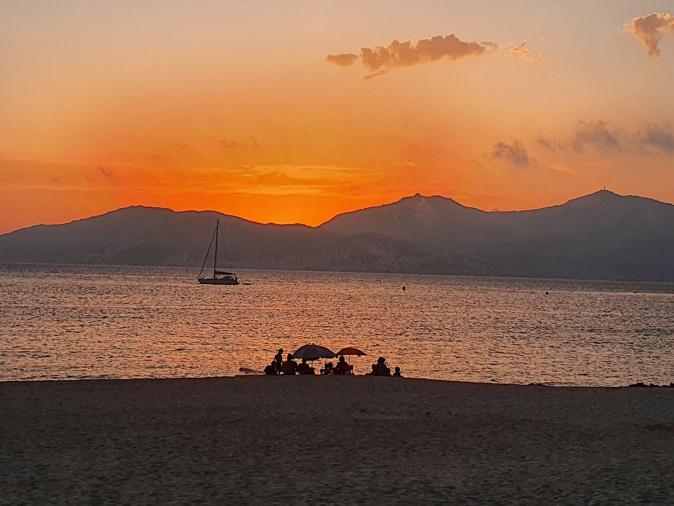 Coucher de soleil sur le golfe d'Ajaccio (Photo Jean-Pierre Vouillot)