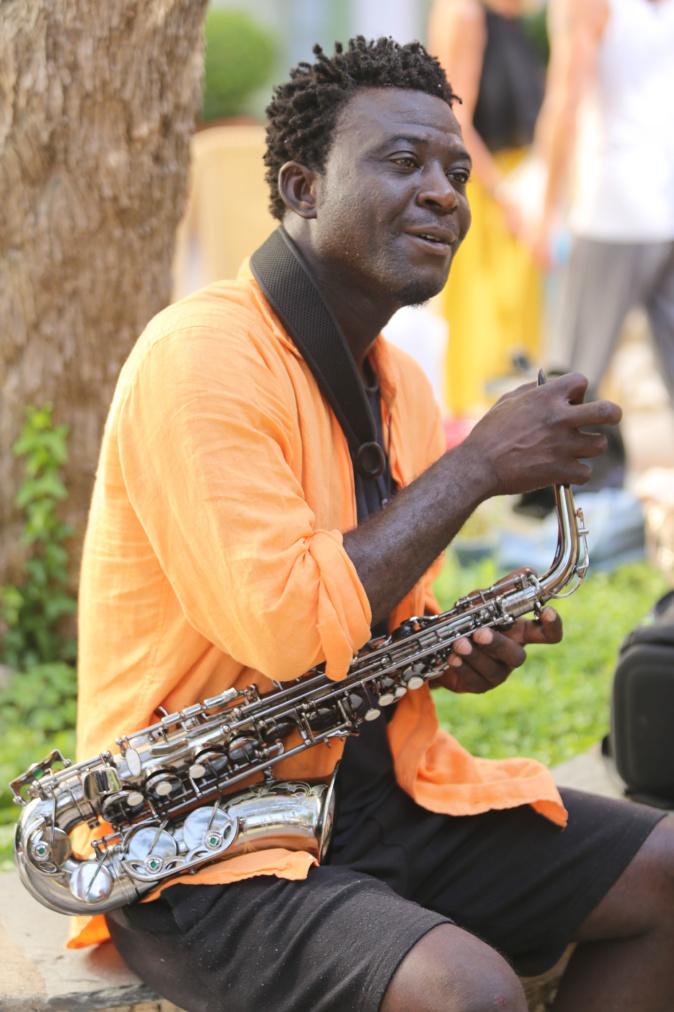 Le saxophoniste de jazz Isaac Kemo de passage à Bastia