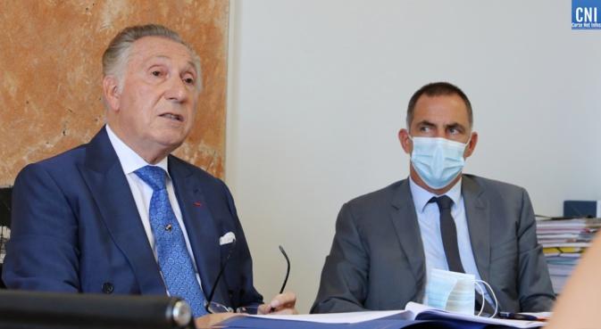Me Alain Spadoni et Gilles Simeoni (Photos Michel Luccioni)