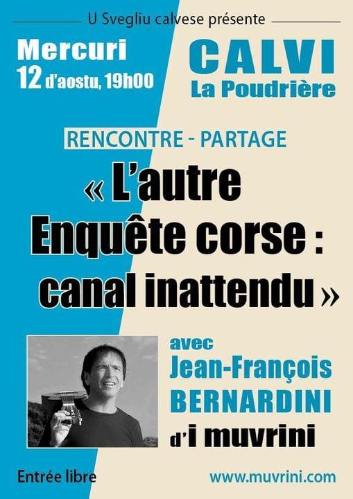 Jean-François Bernardini à Calvi le 12 août pour la présentation de son dernier  ouvrage