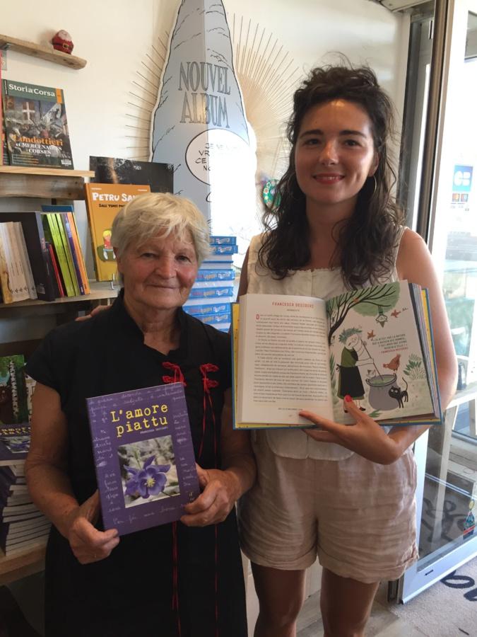 Francesca Desideri et Alice Babin ont dédicacé leur livre à la librairie A Piuma Lesta à Bastia