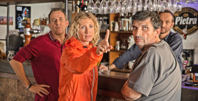 Didier Ferrari, Alexandra Lamy, Michel Ferracci et Jef Peronne dans Belle Fille © Angela Rossi