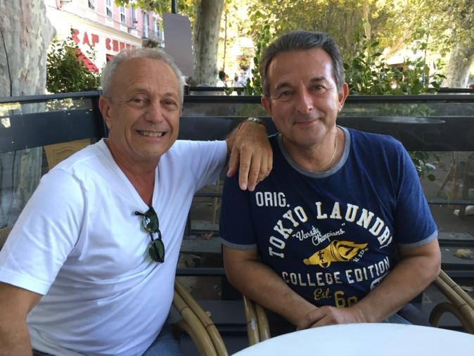 Michel Guidoni, de passage à Bastia, a rencontré son ami le chanteur Jacky Nicolaï