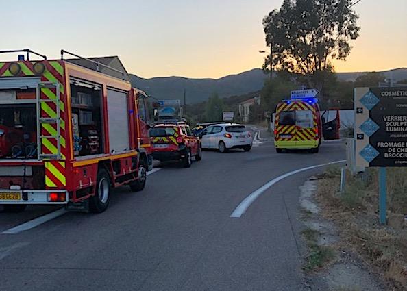 Accident à Belgodere : deux blessés