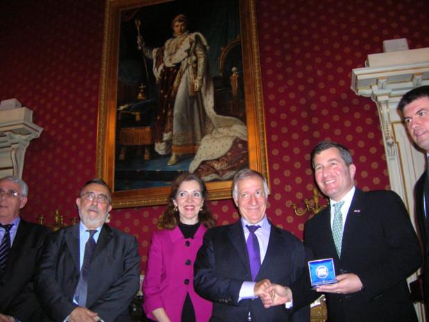 Le maire d'Ajaccio a terminé sur une invitation tacite à une nouvelle visite de l'ambassadeur Charles H. Rivkin et du consul Mme Diane E. Kelly, en leur rappelant chaleureusement qu'ils étaient les bienvenus dans notre île. (Photo: Yannis Christophe Garcia)
