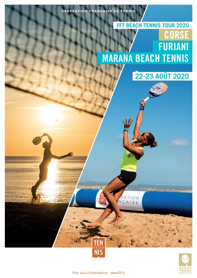 L'étape du FFT Beach-Tennis Tour 2020 à Furiani ce week-end
