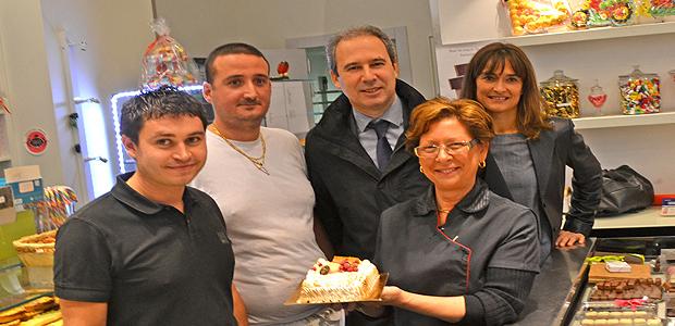 Jean Zuccarelli à la pâtisserie Leoncini