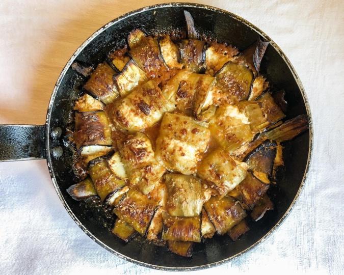 A table : involtini d'aubergine à la ricotta avec… La petite cuisine de Marie