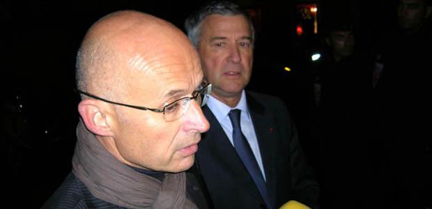 Peu avant 20 heures, le Procureur de la République d'Ajaccio Xavier Bonhomme, a communiqué les premiers éléments sur l'assassinat de Jacques Nacer. (Photo: Yannis Christophe Garcia)