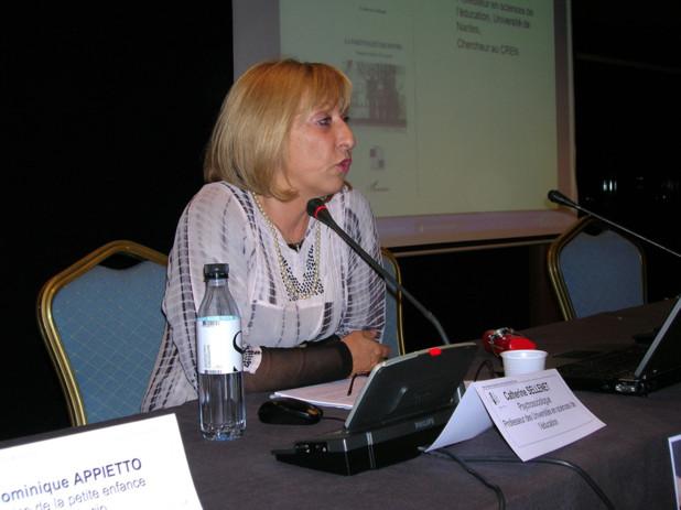 Catherine Sellenet, Professeur des Universités en Science de l'Education a animé la conférence. (Photo: Yannis Christophe Garcia)