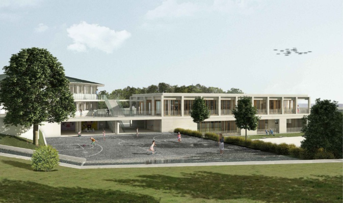 Le projet de restaurant scolaire.  Crédit : Orma Architecture
