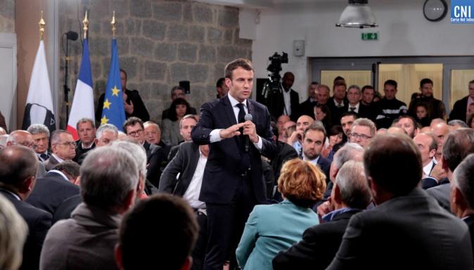 Image archive CNI : Emmanuel Macron en Corse