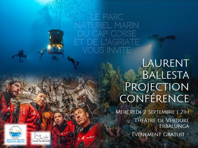 28 jours au fond de la Méditerranée : Laurent Ballesta à Erbalonga pour parler de son expédition unique