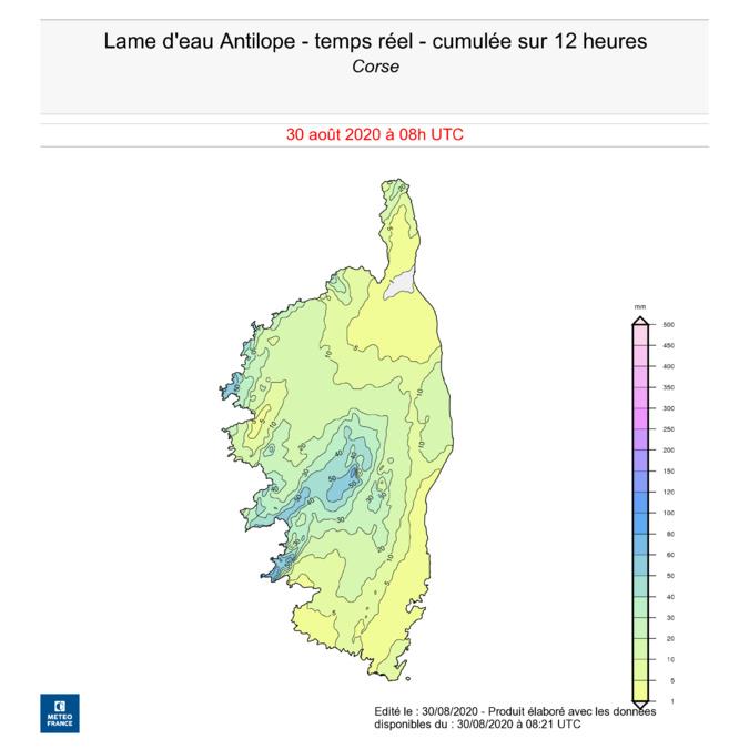 Orages en Corse : des records de pluie battus