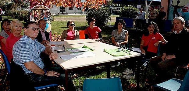 Les organisateurs de la journée. (Photo Marilyne Santi)