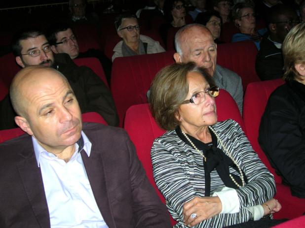 Simone Guerrini, conseillère municipale était présente dans le public pour assister à la conférence de l'évêque d'Ajaccio. (Photo: Yannis Christophe Garcia)