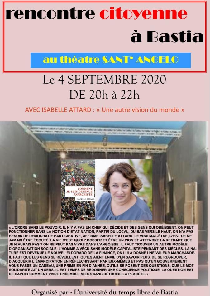 Isabelle Attard aux Rencontres citoyennes de Bastia