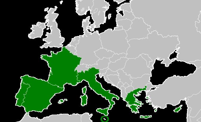 Carte des États membres du groupe (Wikipedia)