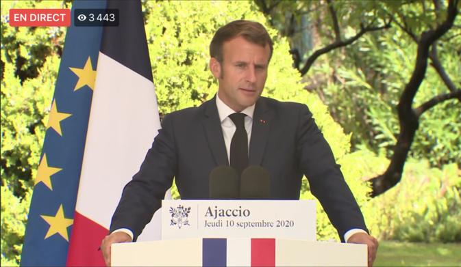 Emmanuel Macron sur la Corse : Pas d'annonce forte, une feuille de route inchangée