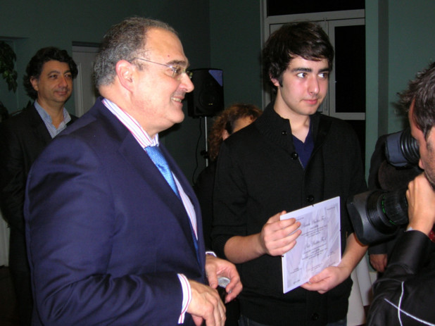 Lionel Luciani, 18 ans, se destine a devenir enseignant en langue corse. (Photo: Yannis-Christophe Garcia)