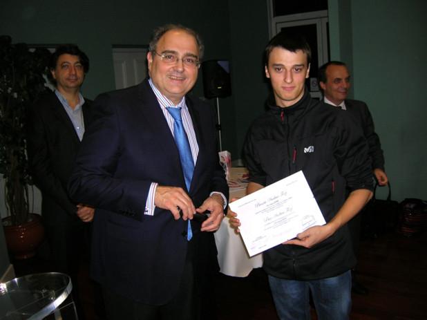 Ghjiseppu Verdi a été récompensé pour ses résultats en langue corse dans la section STG. (Photo: Yannis-Christophe Garcia)
