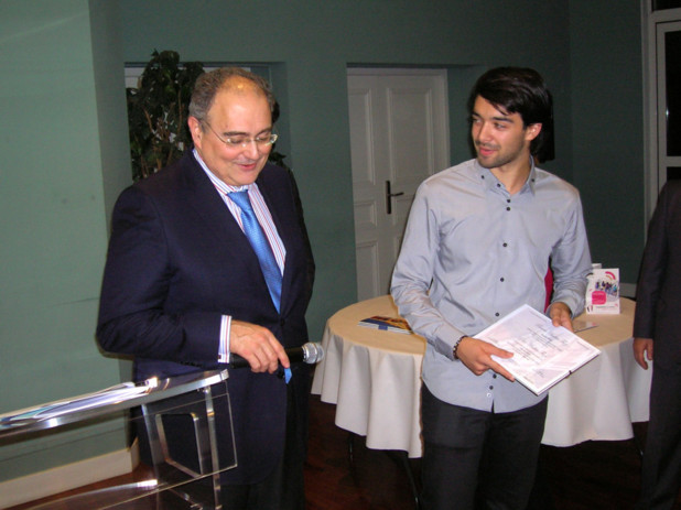 Maxime Paoli a vu ses efforts récompensés en langue corse pour la section scientifique. (Photo: Yannis-Christophe Garcia)