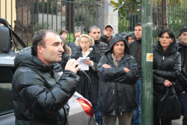 """Le porte-parole du colllectif """"A Droga Fora"""" Denis Luciani a réaffirmé l'intention de lutter contre le fléau de la drogue en Corse. Puis une délégation a été reçue par le Préfet de Corse-du-Sud Patrick Strzoda durant plus d'une heure. (Photo Marilyne Santi)"""