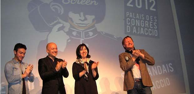 C'est le réalisateur écossais David Mackenzie, en présence de toute l'équipe de Corsica Film Festival, qui a officiellement ouvert la 4è saison du festival du film anglais et irlandais samedi soir au palais des congrès d'Ajaccio. (Photo Yannis-Christophe Garcia)