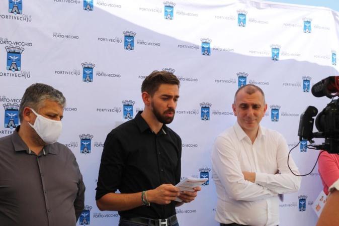 Jean-Christophe Angelini, maire de Porto-Vecchio et Petru Antone Vesperini, conseiller municipal en charge de la gouvernance et de la démocratie participative