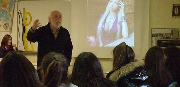 Dominique Nadaud en compagnie de Joseph Luciani, lors d'une récente intervention en favaur de l'insertion des femmes dans le monde du travail.